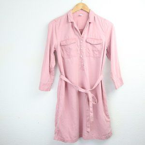 Old Navy Shirt Dress Tencel Button Pullover Tunic